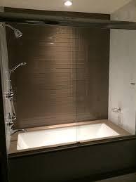 frameless glass sliding doors soaker tub with custom frameless glass sliding doors