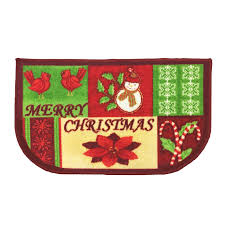 Christmas Rug Kitchen Rug Christmas Slice Decor Mat Merry Christmas 18