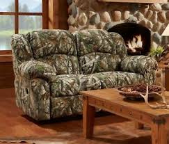 camouflage living room furniture mossy oak camouflage reclining loveseat 2 seater couch living room