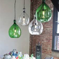 Green Pendant Lights Oversized Glass Pendant L 28 Da4691