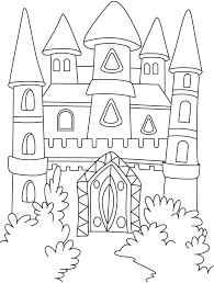 magical castle forest coloring pages download free
