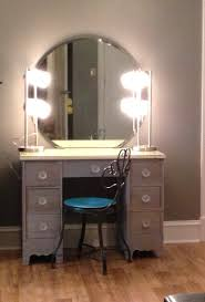 Portable Lighting For Makeup Artists Diymakeupvanity Refinish Old Desk 2 Lamps From Wal Mart Wall