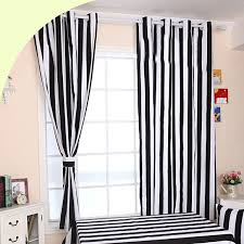 Black White Stripe Curtain Catchy White And Black Striped Curtains Decorating With Black And