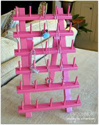 Diy Projects For Teen Girls by Jewelry Holder From Thread Rack