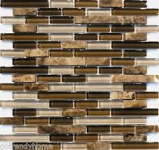 Brown Glass Tile Backsplash by 10sf Emperor Marble Brown Glass Blends Mosaic Tile Kitchen