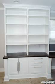 Built In Cabinets Plans by Built In Upper Bookshelf Plans Cara Collection Sawdust