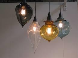 Pendant Lighting Shades Hand Blown Glass Pendant Lights Casamotion Industrial Edison