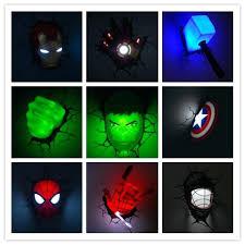 3d deco superhero wall lights 3d wall lights target australia avengers light star wars