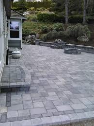 Granite Patio Pavers Patio And Seating Wall In Kenmore Wa Pavers Type Granite Park