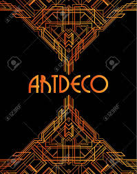art deco style golden abstract geometric background art deco style trendy