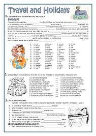 Esl Vocabulary Worksheets Travel And Holidays English Language Esl Efl Learn English