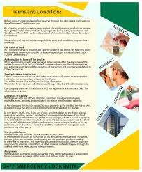 clinton locksmith service terms and conditions