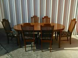 Broyhill Dining Chairs Broyhill Dining Table W 6 Cane Back Chairs Leaf For Sale In Spring