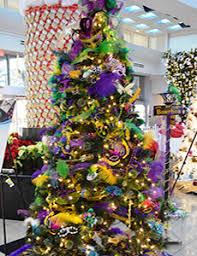 mardi gras trees christmas tree auction 2017