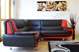 Leather Corner Sofa Beds Uk by New Passero Faux Leather Corner Sofa Suite Black U0026 White Black U0026red