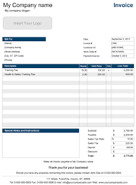Ms Excel Invoice Template Service Invoice Templates For Excel
