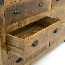 6 drawer industrial sideboard x wine rack buffet mango wood
