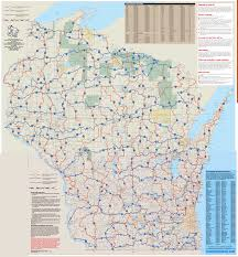 Wisconsin State Map by Snowmobile Conditions