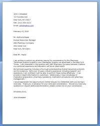 cover letter examples for pharmacy technician