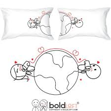 gift hers boldloft has no distance couples pillowcases distance