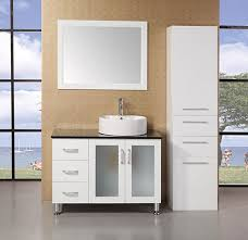 40 Bathroom Vanities Design Element Malibu Single 40 Inch Modern Bathroom Vanity Set