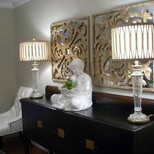black and gold buffet lamps design ideas