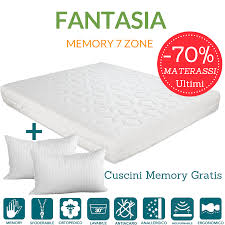 materasso evergreen materasso memory foam alto 22 cm fodera antiacaro sfoderabile fantasia