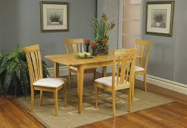 butterfly leaf dining table set piece butterfly leaf dining set in maple finish by coaster 4267
