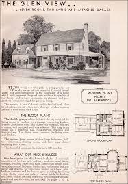 Colonial Revival House Plans Sears Kit House 1936 Glen View Garrison Colonial Revival
