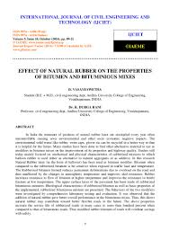 effect of natural rubber on the properties of bitumen and bituminious u2026