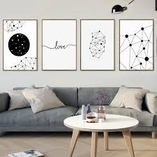 online shop black white geometry aabstrct canvas posters and
