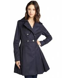 laundry by shelli segal by shelli segal breasted flare trench coat at