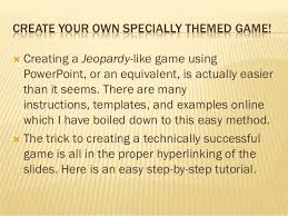 how to make a jeopardy sytle game