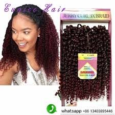 crochet hair freetress crochet braid curly hair savanna jerry curl 3x braids 10