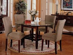 Glass Dining Room Furniture Sets Round Glass Dining Table Set Shelby Knox