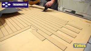 treadmaster marine advanced teak effect deck manufacture youtube