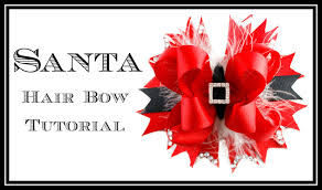 christmas hair bows santa hair bow tutorial christmas hair bow hairbow supplies