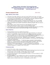 Government Resume Format Resume Sample In Canada Resume For Your Job Application