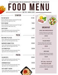 restaurants menu templates free 20 outstanding restaurant menu templates for food and drink business best food and drink menu 5