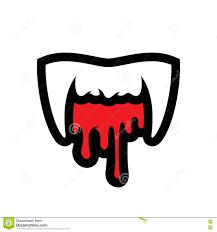 Vampire Teeth White Vampire Teeth Cartoon Illustration Stock Vector Image