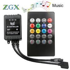 music led strip lights 20 keys ir music sync remote controller sound sensor for led strip