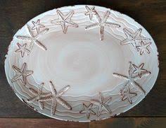 starfish platter nautical tropical crab starfish melamine set of 6 salad