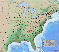 Central United States Map by Usarray Central And Eastern United States Seismic Network Ceusn