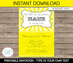 You Are My Sunshine Decorations Sunshine Birthday Party Invitations Printable Decorations
