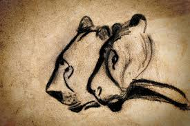 chauvet cave painting two chauvet cave lions by weston westmoreland