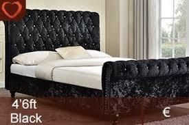 Velvet Sleigh Bed Shoreditch Velvet Sleigh Bed