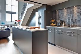 modern kitchen gray cabinets outofhome
