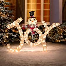 3 lighted snowman outdoor decoration improvements