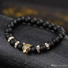 mens bracelet stones images Discount natural stone beads men bracelets lucky charm matte black jpg