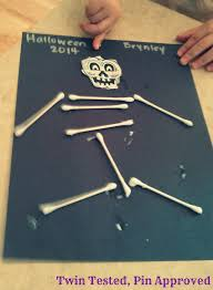 leapfrog kids activities and q tip skeleton craft
